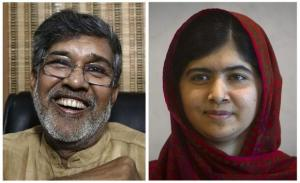 Combination picture of 2014 Nobel Peace Prize winners, Indian children's right activist Kailash Satyarthi and Pakistani schoolgirl activist Malala Yousafzai